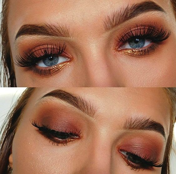 Glittery Pink Brown Smokey Eye Makeup Smokey Eye Makeup Smokey Eye For Brown Eyes Brown Smokey Eye Makeup
