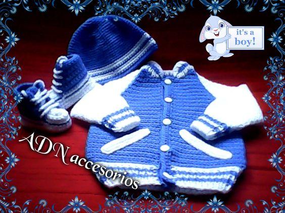 conjunto de niño en crochet