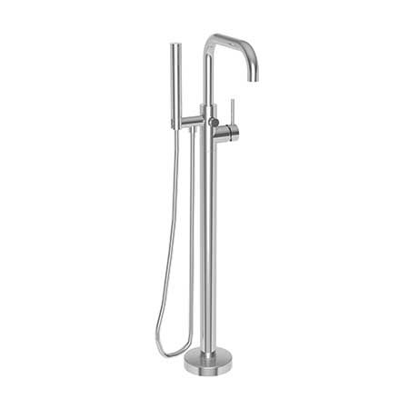 East Square Exposed Tub And Hand Shower Set Free Standing