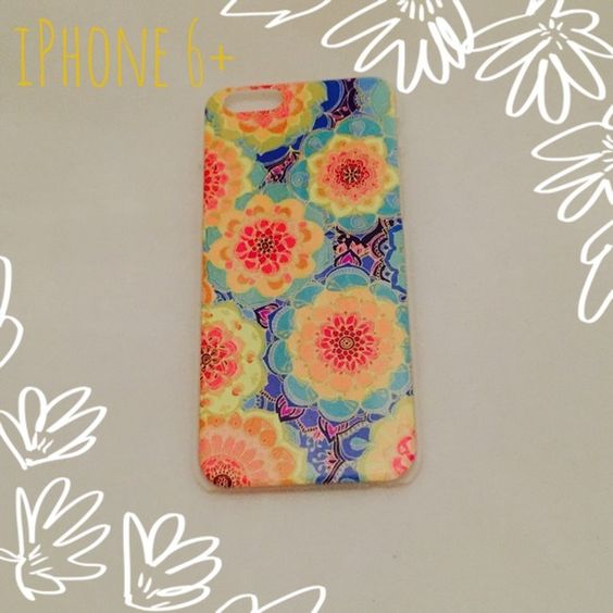BOGO 1/2OFF Snap On Floral Case for iPhone 6+ Brand new! Simple plastic snap on. Clear sides with image on the back. Adorable design! NO TRADES Accessories Phone Cases