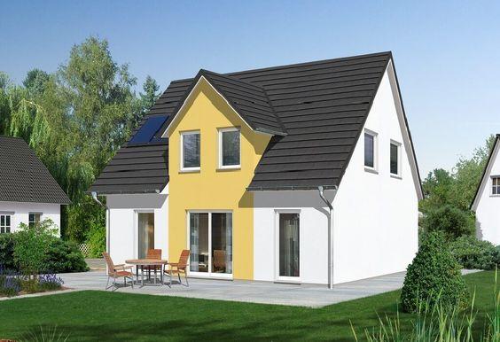 fehér ház élénkebb sárga kiemelésssel
