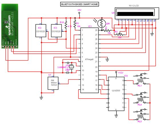circuit diagram smart home and home on