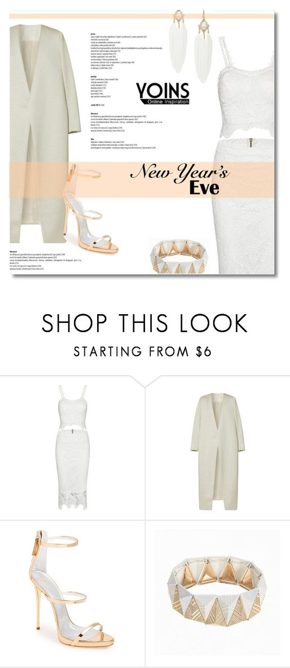 """""""Yoins #21 (White on White)"""" by antemore-765 ❤ liked on Polyvore featuring moda, E L L E R Y y Giuseppe Zanotti"""