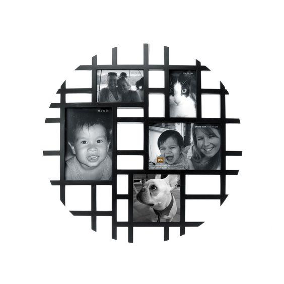 I love the Present Time Circle Photo Frame from LittleBlackBag | For ...
