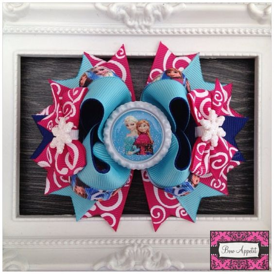 Disney Frozen Stacked Hair Bow