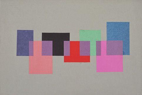 """Transparenz"", Prof.: Josef Albers/ Estudiante: Christel Sztankovitz (1953/54)"
