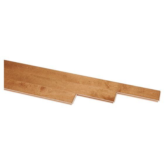 Plancher de bois franc en merisier, brun léger