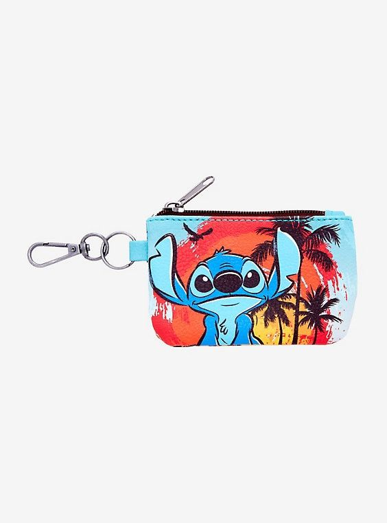 Lilo and Stitch Cool Gift Card Holder Mini Zippered Pouch with Key Ring