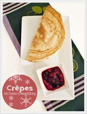 Crêpes mit Cream-Cheesefüllung
