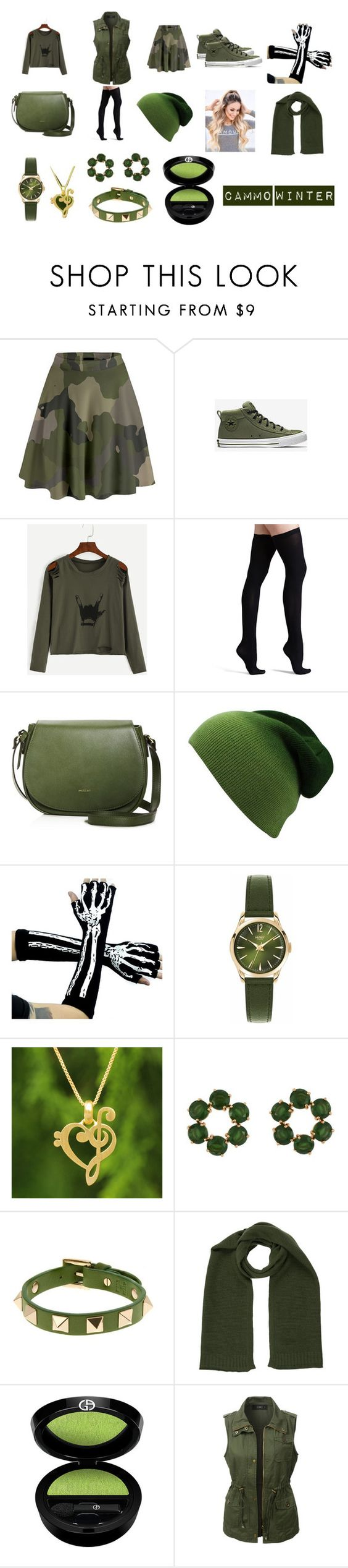 """Cammo Winter"" by nerdy-anime-fan on Polyvore featuring beauty, Commando, Henry London, NOVICA, Les Néréides, Valentino, Belstaff, Giorgio Armani and LE3NO"
