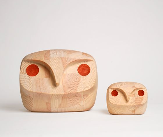 Bubo bubo by Andreas Engesvik: Bubo Wooden, Wooden Owls, Birds Owls, Owls Andreas, Owls Stokkeaustad, Heart Owls, Bubo Owls, Kids Design