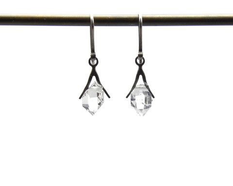 Tiny Sticks and Stones Herkimer Earrings - Hannah Blount Jewelry - Hannah Blount Jewelry