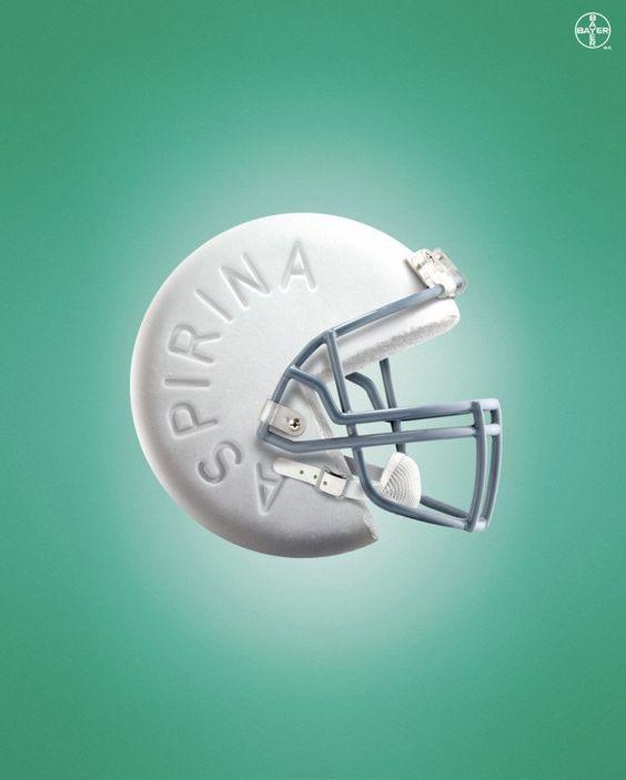 Aspirina / 60 Ejemplos de publicidad creativa e inteligente: