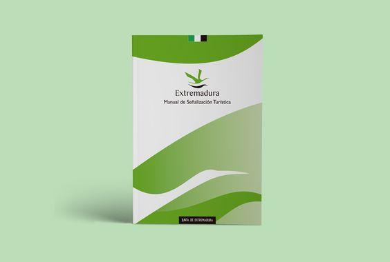 Portada: Manual de Señalización Turística de Extremadura   Laruinagrafica - Estudio creativo y poliédrico