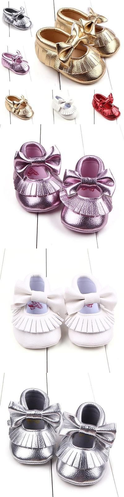 Baby Girls Shoes: Toddler Girl Crib Shoes Newborn Baby Bowknot Soft Sole Prewalker Sneakers 0-18M BUY IT NOW ONLY: $3.63