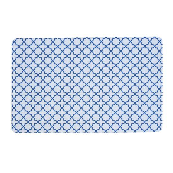 Clover Diamond Navy Blue Floor Mat