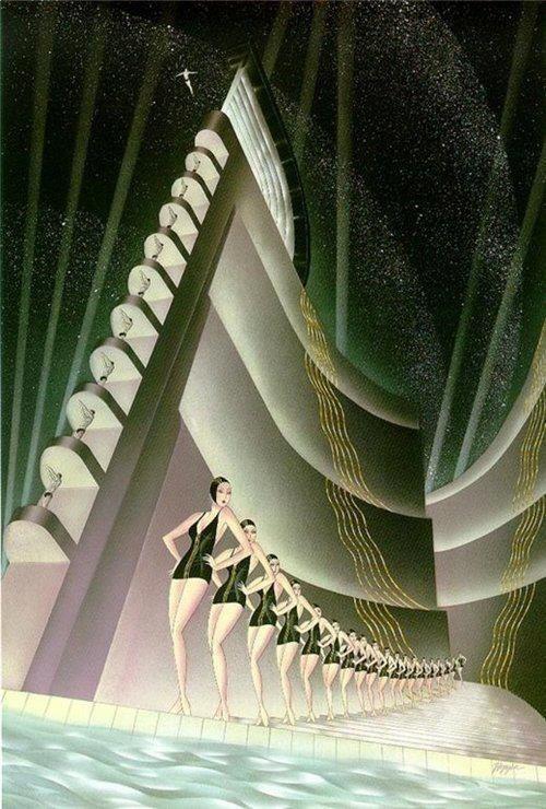 Art Deco Poster Lounge Room
