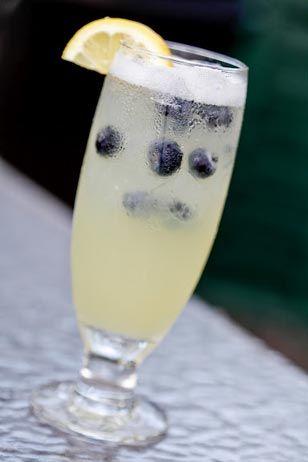 Vodka collins, Blueberry vodka and Squeezed lemon