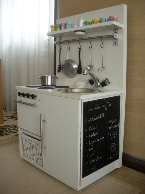 my mum made us one when we were little and we loved it! beautiful diy play kitchen