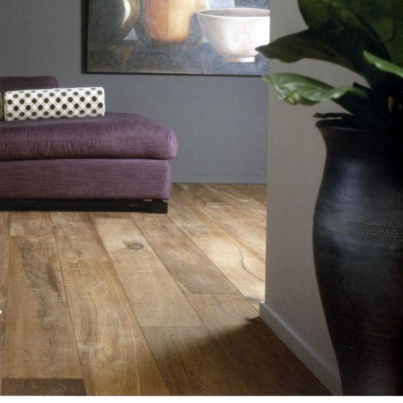 parquet chene contrcoll old story 59 ht m2 naturel fume angles vieillis. Black Bedroom Furniture Sets. Home Design Ideas