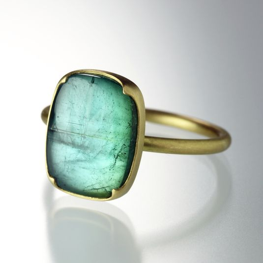gabriella kiss - Blue Green Tourmaline Ring- like the way this is set...needs to be in silver