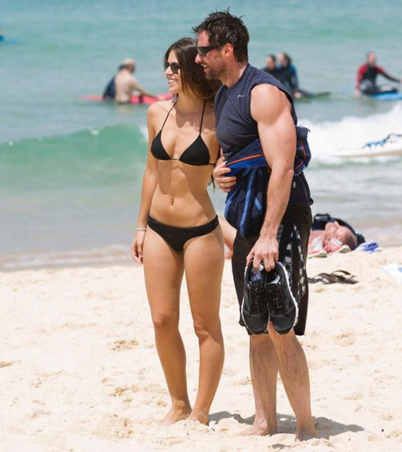 hugh jackman beach fan photo