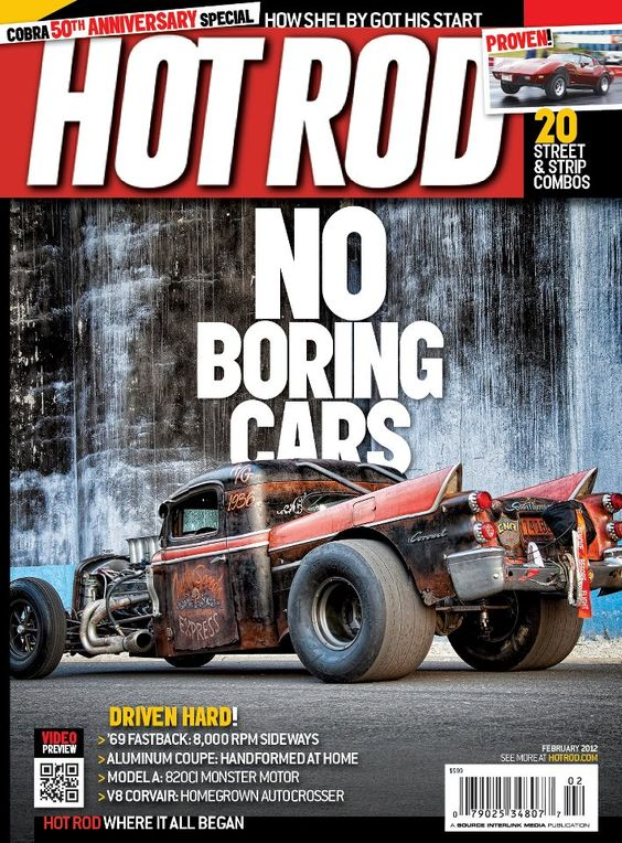 The cover of the February 2011 issue of HOT ROD magazine. See www.HOTROD.com
