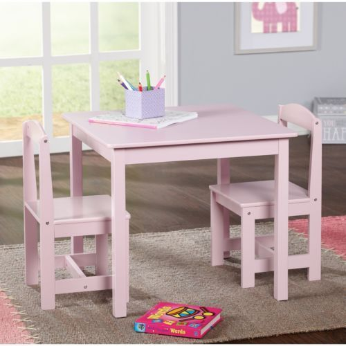 Girls Table And Chairs Set Activity 3 Piece Toddler Wooden Kids Furniture Generic Study Table And Chair Kids Table And Chairs Small Table And Chairs