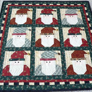 "Threadbias: Debbie Mumm Santa Quilt by Stamdl. Made and sold several--in my D, Mumm ""period"":"