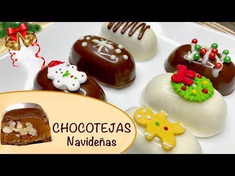 Como Hacer Chocotejas Navidenas Bombones De Navidad Luna Mia Youtube Christmas Chocolate Food Chocolate