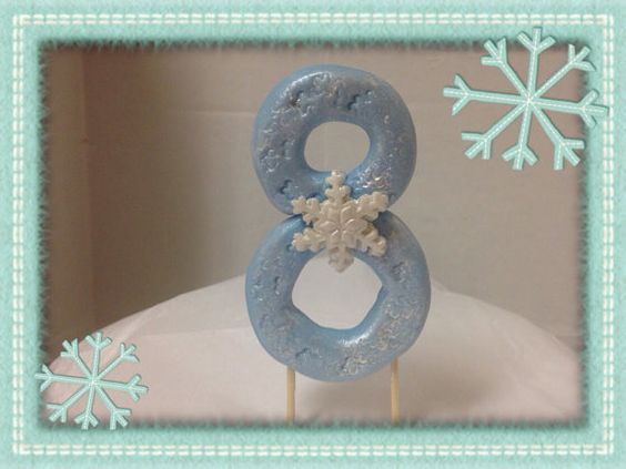 Fondant Frozen Theme  Numbers Cake Topper  on Etsy, $5.00