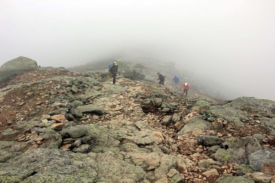 The intervening peaks between Little Haystack and Mt. Lafayette usually required an increasingly slow trudge up and over the rocky alpine tundra.