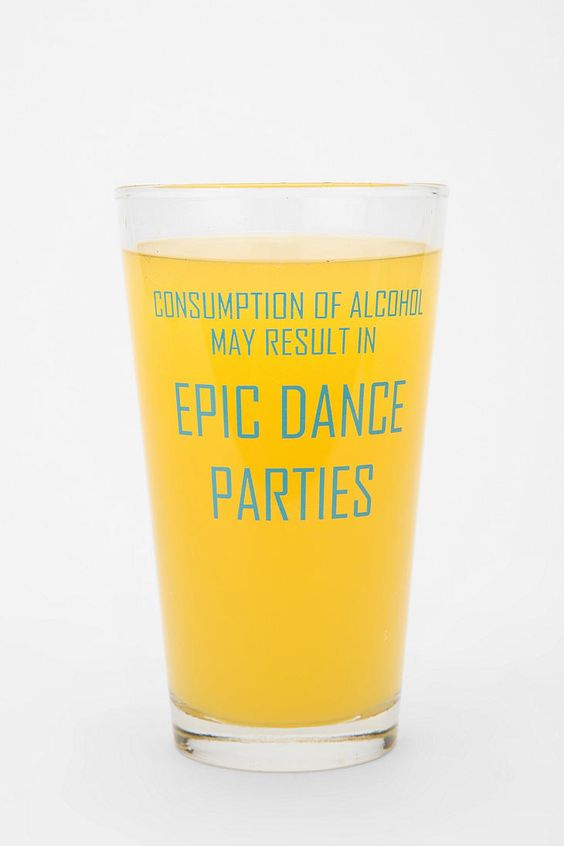 I need to get chad a glass like this. But, it should say dance-offs!