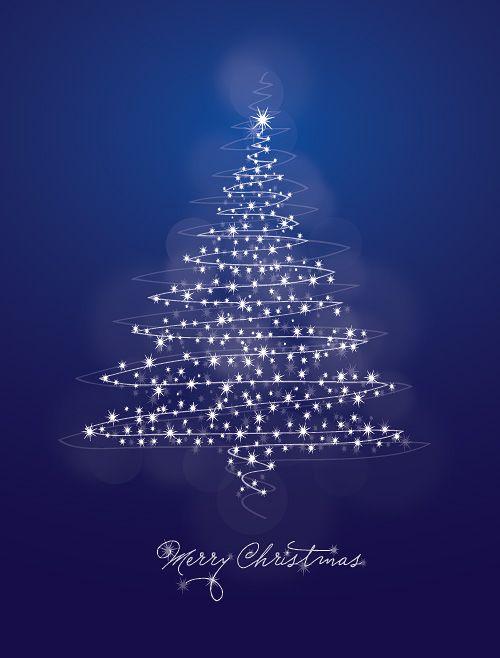 Blue Christmas Tree. Merry Christmas.