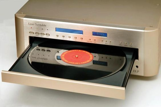 The ELP Laser Turntable, Japan. Prices range from $10,000 to $16,000 - www.remix-numerisation.fr - Rendez vos souvenirs durables ! - Sauvegarde - Transfert - Copie - Digitalisation - Restauration de bande magnétique Audio - MiniDisc - Cassette Audio et Cassette VHS - VHSC - SVHSC - Video8 - Hi8 - Digital8 - MiniDv - Laserdisc - Bobine fil d'acier