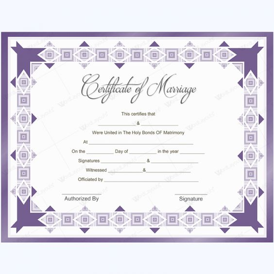 Marriage Certificate Template #marriage #certificate #template - marriage certificate template