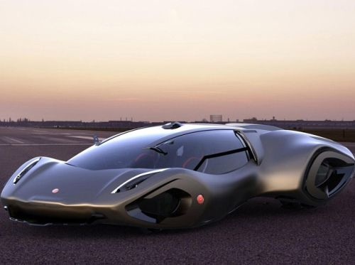 Bizzarrini Veleno Concept Car 2030 Side View New Car
