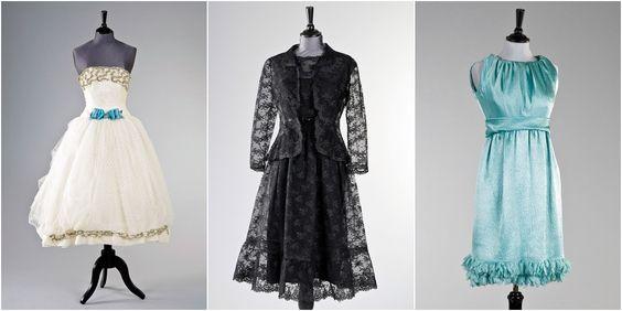 Da esquerda para a direita, vestidos usados por Audrey em: Love In The Afternoon, How to Steal a Million e editorial de moda em 1966
