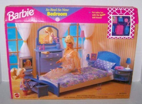 vintage 1998 barbie so real so now bedroom playset ebay barbie bedroom furniture