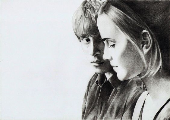 Ron and Hermione by Megneoulie on DeviantArt