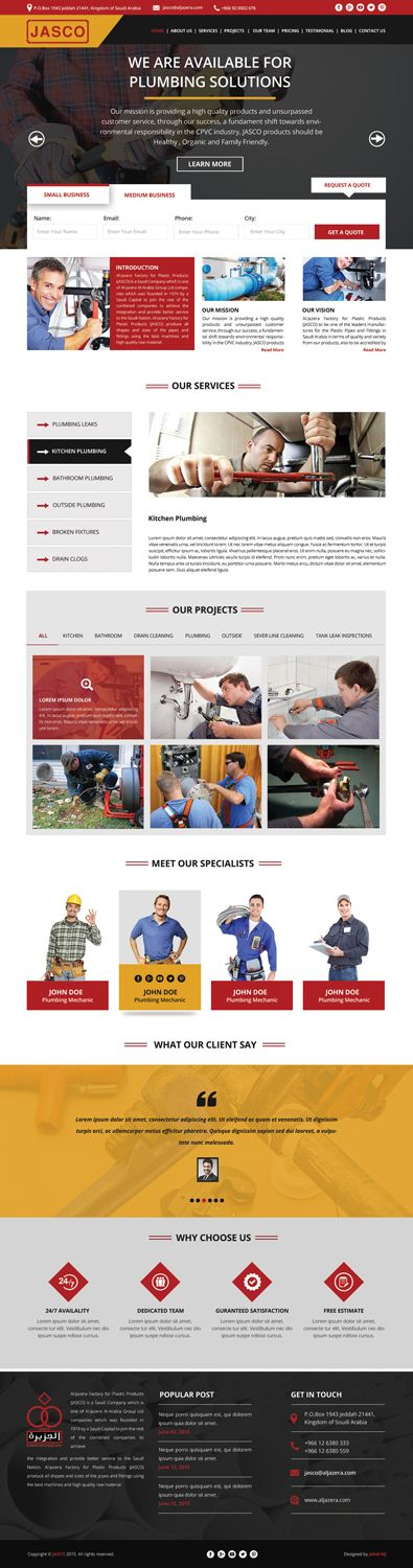 Web Design by Jahid BD for Jasco for pvc pipes and fitting - Design #11257432