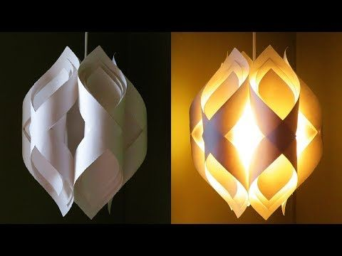 Diy Lamp For Pendant Light Learn How To Make A Lampshade Lantern For Hanging Lights Ezycraft Youtube Paper Lamp Diy Pendant Light Paper Lanterns Diy