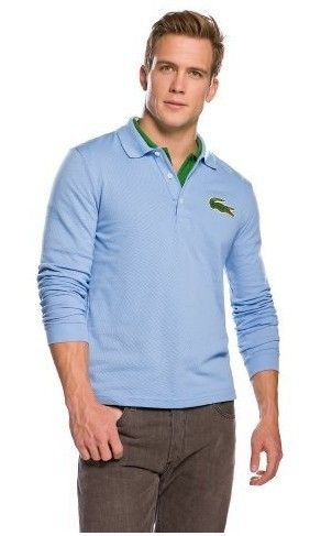 ralph lauren online outlet Lacoste Men\u0026#39;s Long Sleeve Croc Pique Polo Shirt Maya Blue http://www.poloshirtoutlet.us/