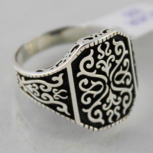 Turco otomano Piedra Preciosa Natural Ágata Rojo sólido MENS anillo de plata esterlina 925