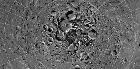 Une magnifique carte du pôle nord de la Lune