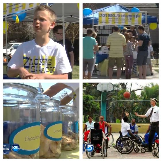 """9 year old Zack Francom from Provo, UT started a lemonade stand, """"Zack's Shack,"""" four years ago in an effort to provide wheelchairs to needy individuals in the developing world."""