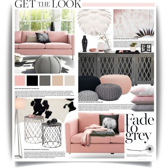 Dusty Pink & Grey Tones by hmb213 on Polyvore featuring interior, interiors, interior design, home, home decor, interior decorating, Worlds Away, Arper, Vita and Currey & Company::