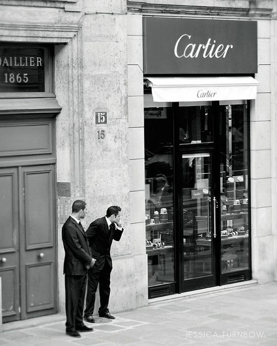 Black and White Paris Photo, 8x10 Fine Art Print, French Men, Cartier, Elegant, Classy, Suit, Shopping, Parisian, City Life