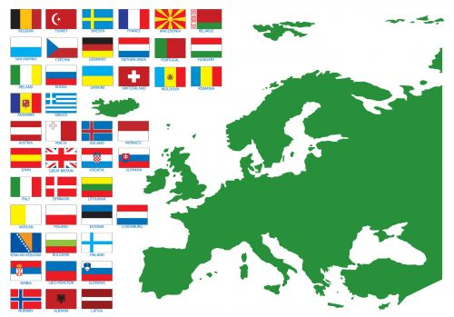 european countries and flags