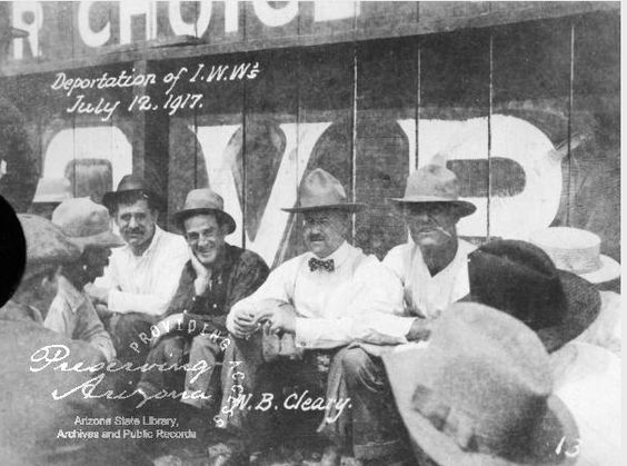 1917 I.W.W. MEETING: a  group of laborers meeting in Bisbee (Ariz.) following a labor dispute involving the Industrial Workers of the World.